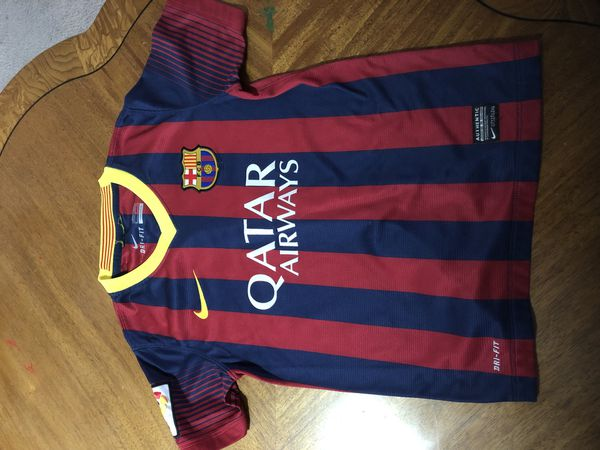 Barcelona shirt for boys size 8 to 10 years old