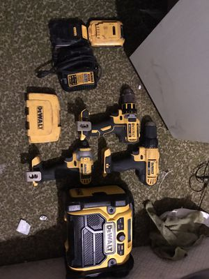 Dewalt Drill set with radio for Sale in Jacksonville, FL