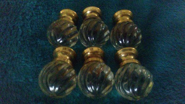 7 Antique Glass Swirl Furniture Drawer Chest Pull Knob with FREE Shipping!!!