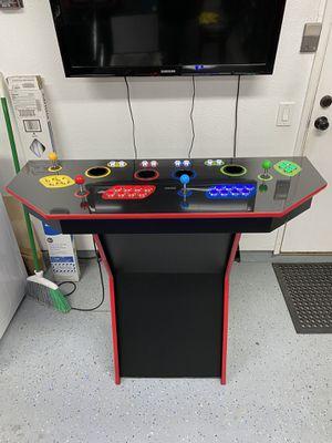 Custom 4 player arcade pedestal for Sale in Ontario, CA