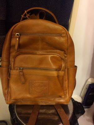 Rawlings genuine leather medium tan backpack for Sale in Overland, MO