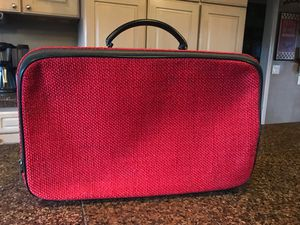 Red vintage suitcase for Sale in Hillsboro, OR