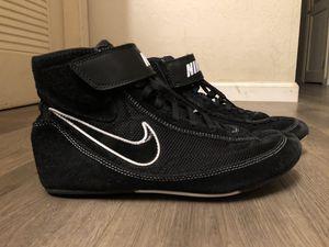 Nike Speed Sweep VII Men's Wrestling Shoes 366683-001 Black White Men's Size 10 for Sale in Carmichael, CA
