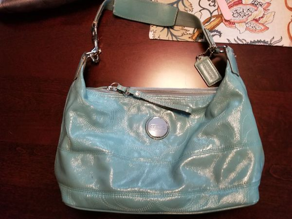 Light Teal Blue Coach Bag