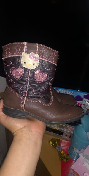 Size 9 cowgirl hello kitty boots for Sale in Tracy, CA
