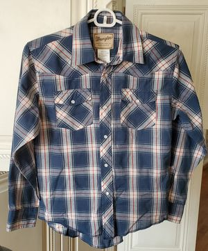 Wrangler Boys Long Sleeve Plaid Shirt, Size Large for Sale in Los Angeles, CA
