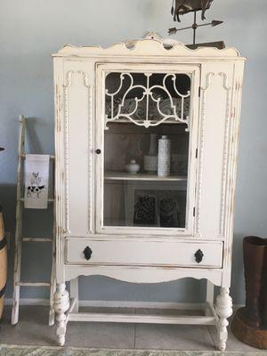 Gorgeous antique shabby chic Jacobean Cabinet/linen cabinet for Sale in Merritt Island, FL