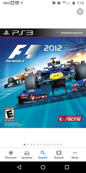 Formula One F1 2012 Sony Playstation 3 PS3 Game UK for Sale in Fort Myers, FL