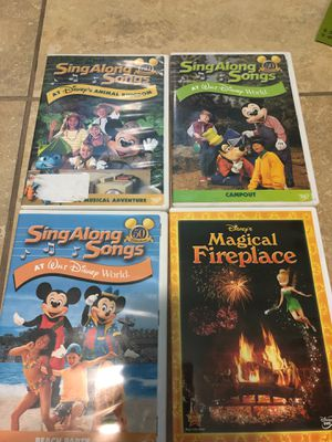 3 Disney sing along and 1 magical fireplace for Sale in Miami, FL