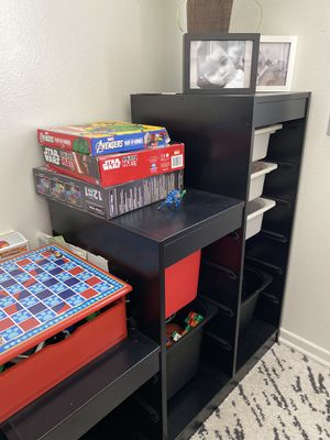 Kids 3 tier storage combination with plastic boxes for Sale in Anaheim, CA