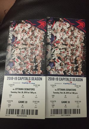 Capitals season pass game 33 for Sale in Hyattsville, MD