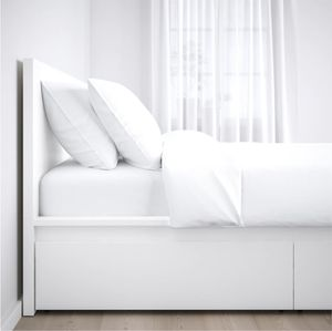 Ikea King White Bed Frame with Two Drawers for Sale in Eugene, OR