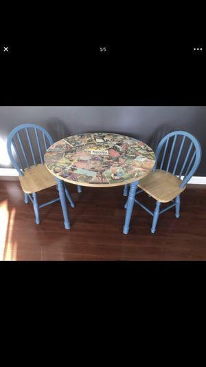 Kids Wooden Play Table and Chair Set for Sale in Elk Grove Village, IL