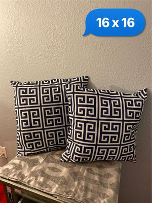 Beautiful dark blue pillows for Sale in Las Vegas, NV