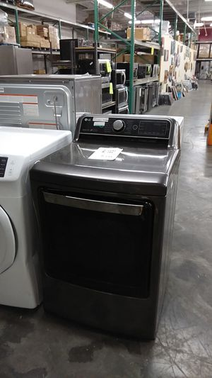 Black stainless steel electric dryer by LG for Sale in West Covina, CA