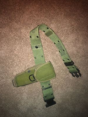 Old holster (od green) w/ belt for Sale in Yorba Linda, CA