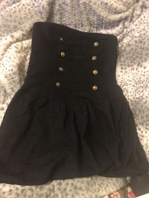 Strapless jean sailor dress for Sale in Houston, TX