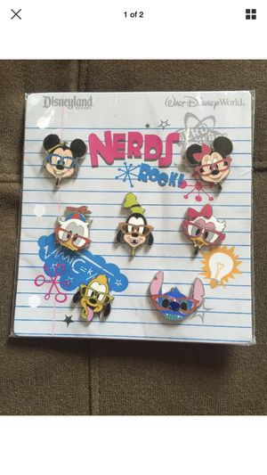 Brand New Disney Pins Character Nerds Booster Set for Sale in Rialto, CA