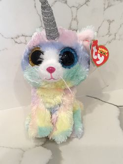 TY Beanie Boos rainbow unicorn plushy for Sale in Stockton,  CA