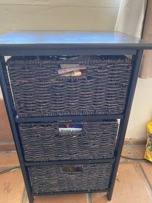 Black wicker organizer/dresser for Sale in San Diego, CA