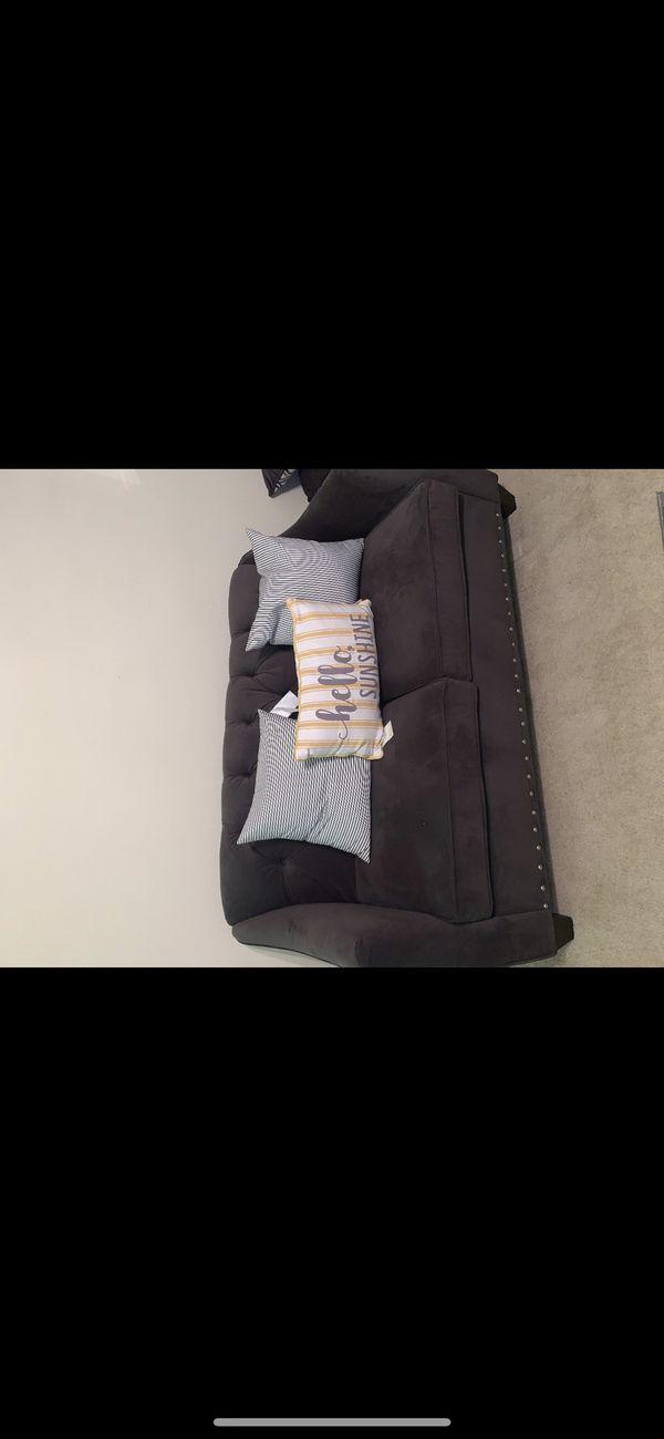 Velvet couch set