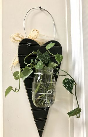 Handmade shabby chic planter flower vase wall decor for Sale in West Linn, OR