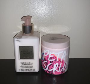 Victoria's Secret Bombshell Seduction Lotion & Scrub for Sale in Lakeland, FL