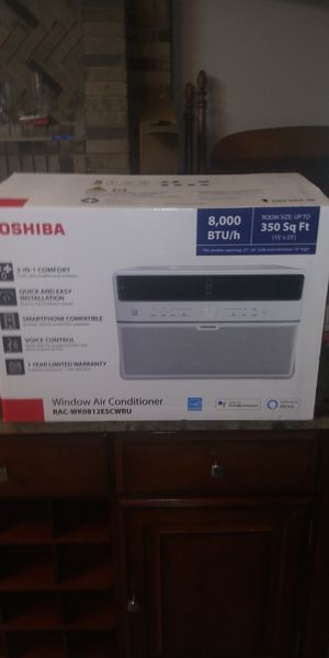 Toshiba 8000 btu smart ac window unit with remote for Sale in Austin, TX