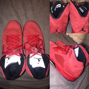 Jordan 5 retro red suede for Sale in Bunker Hill, WV