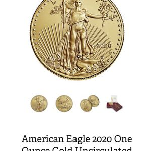 American Eagle 2020 One Ounce Gold Uncirculated Coin Confirmed Order for Sale in South El Monte, CA