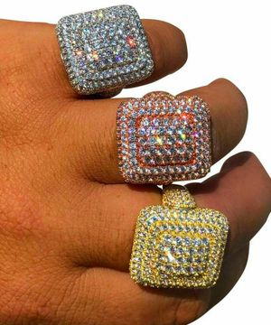 (925SILVER) fully iced pinky ring. for Sale in Lawton, OK