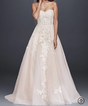 Ivory/Champagne Sheer Lace & Tulle Ball Gown Wedding Dress for Sale in Austell, GA