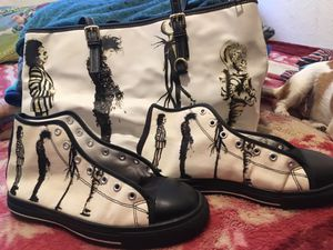 Tim Burton Bundle both brand New! (size 6 USA) and matching Designer Bag for Sale in Fresno, CA