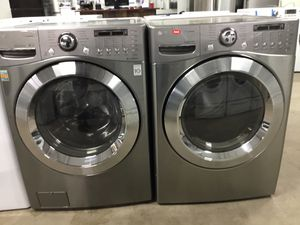 (Anoka 11065-EF AS) LG Graphite Front Load Washer and Dryer for Sale in Oak Grove, MN