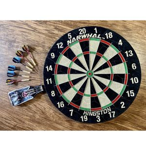 Narwhal Kingston Dartboard Official Size, Self-Healing Board W/ 9 Darts All New for Sale in Chandler, AZ