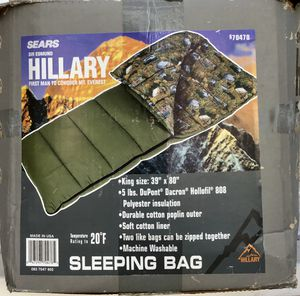 NEW Sir Edmund Hillary Sleeping Bag Open Box USA Made Christmas Gift for Sale in Torrance, CA