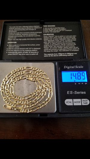 14k new real gold solid chain 14.89 grams. 20 inches long.4mm .firm price . firm price for Sale in Phoenix, AZ
