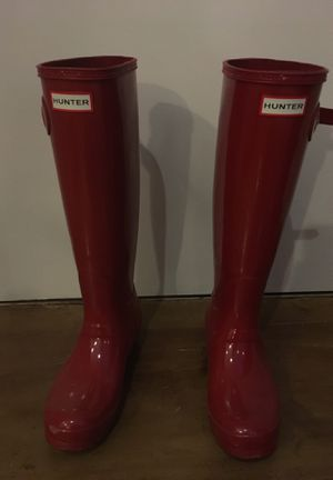 Hunter Women's Size 6 Glossy Red Rainboots for Sale in Boston, MA