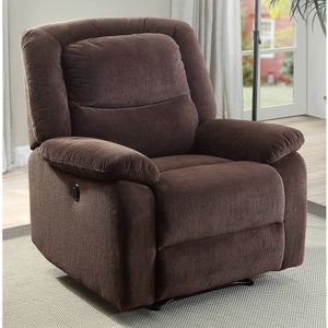 Serta Push-Button Power Recliner with Deep Body Cushions, Ultra Comfortable Reclining Chair, Brown Plush Fabric for Sale in Hilliard, OH