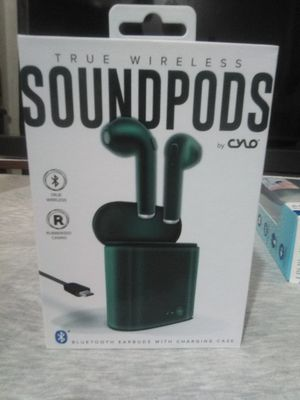 Brand new still in box forest green True Wireless Bluetooth sound Pods by cylo for Sale in San Diego, CA