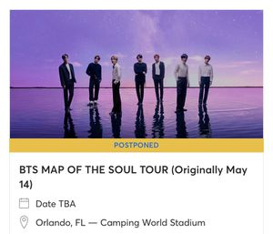 Selling BTS sold out Map of the soul concert for Sale in Haines City, FL