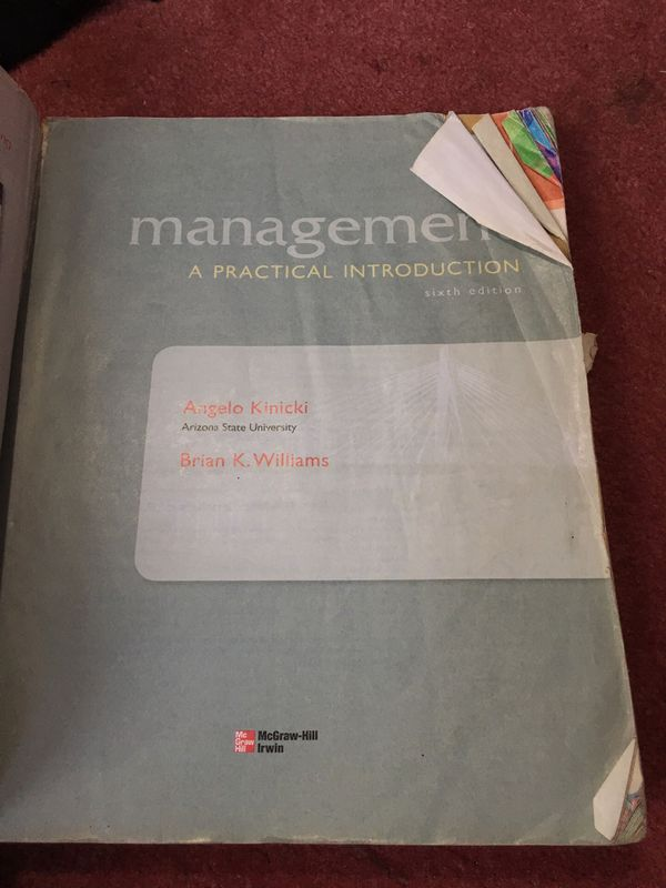 Management a practical Introduction 6ed by Angelo Kinicki and Brian K. Williams