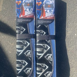 Superman sunshades! DC licensed merchandise! Brand New! Bundle Of 2! for Sale in Citrus Heights, CA