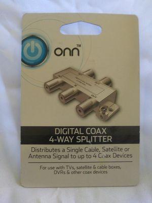 ONN Digital Coax 4-way Splitter for Sale in Cleveland, OH
