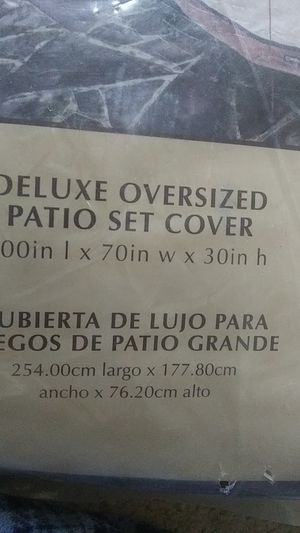 NEW DELUXE OVERSIZED PATIO SET COVER for Sale in Simpsonville, SC