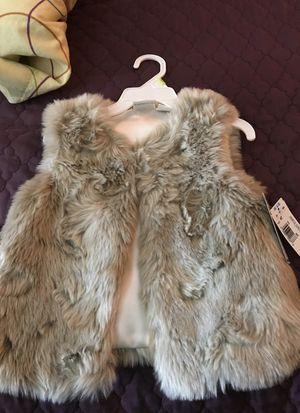 Girls toddler Faux fur vest for Sale in Portland, OR
