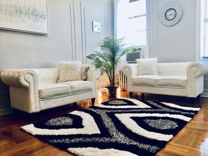 $400 White Leather couches (set of 2 loveseats) for Sale in The Bronx, NY