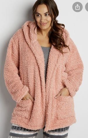 Maurices Faux Sherpa Robe in Pink Sz L/XL**PLS READ DESCRIPTION** for Sale in Las Vegas, NV