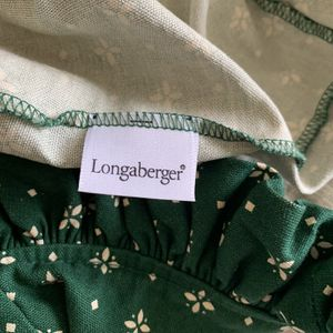 Longaberger Basket Liner - Traditional Green for Sale in Port St. Lucie, FL