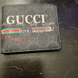 """Gucci Wallet """"What Are We Going To Do With All This Future?"""" New for Sale in Riverside, CA"""